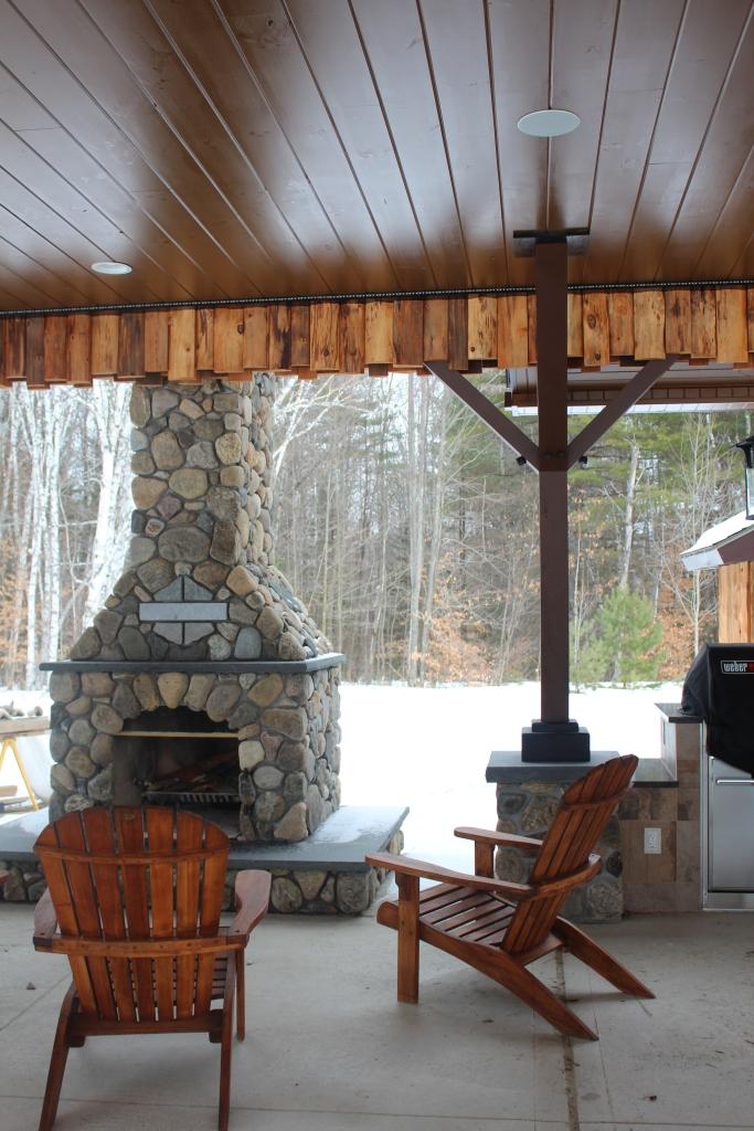 Fireplace in Pavillion